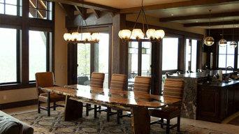 Custom made slab dining table