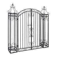 vidaXL Ornamental Iron Driveway Entry Gate