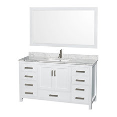 "Wyndham Collection WCS141460SUNSM58 Sheffield 60"" Hardwood Vanity Cabinet"