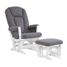 Dutailier Ultramotion Multiposition Glider and Nursing Ottoman, Gray