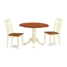 3-Piece Dinette Table Set With A Table 2 Dining Chairs Buttermilk And Cherry