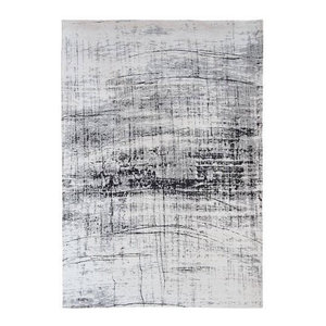 Metro Rug, Black and White, 60x90 cm