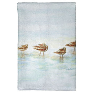 Betsy Drake Mockingbird Berries Kitchen Towel Contemporary Dish Towels By Zeckos