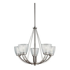Kichler Lighting 5-Light Lucia Large Chandelier, Brushed Nickel