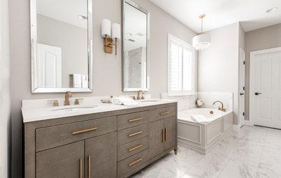 Bathroom of the Week: Unusual Vanity Stars in a Serene Room