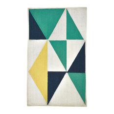 Weave and Wander Chole Indoor/Outdoor Rug, Sea Green/Multi, 5'x8'
