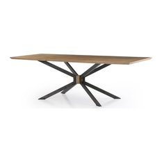 Samira 94-inch Dining Table Antiqued Brass