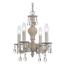 Antique white chandeliers houzz joshua marshal sutton four light antique white up mini chandelier chandeliers aloadofball Images