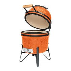 "BergHOFF International Inc. - Ceramic Barbecue, Bright Orange, 13"" - Outdoor Grills"