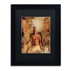 """Joarez 'Totally Surrender' Framed Art, Black Frame, 11""""x14"""", Black Matte"""