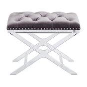 Allura Bench, Light Gray Fabric