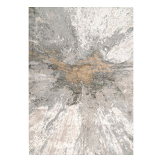 nuLOOM Contemporary Abstract Cyn Area Rug, Silver, 10'x14'