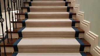 Укладка ковролина на лестницу г. Москва
