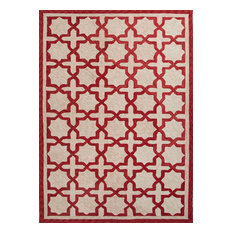 Jaipur   Extra Large Red Catalina Moroccan Mosaic Outdoor Rug   Outdoor Rugs