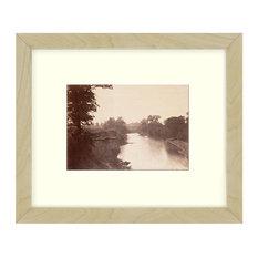"""Grasshopper Creek"" Sepia Tone Framed Photo, 11""X15"""