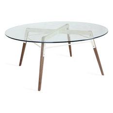 Ross Coffee Table, White, Walnut