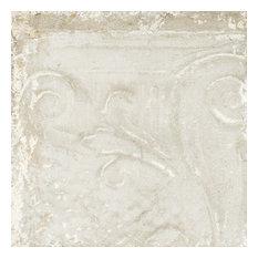 Sassuolo Italian Tile, 12 x 12, Single Swatch, White Relief