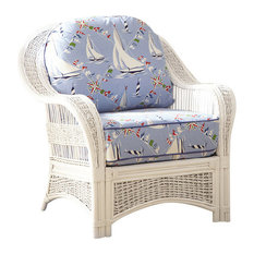 Regatta Arm Chair In White Set Sail Fabric