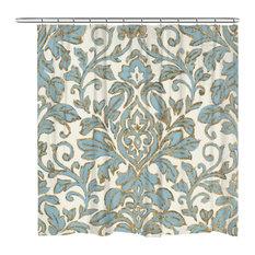 Antique Damask Shower Curtain
