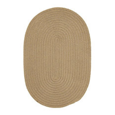 Colonial Mills, Inc - Braided Boca Raton Area Rug, Cuban Sand, Round 12' - Outdoor Rugs