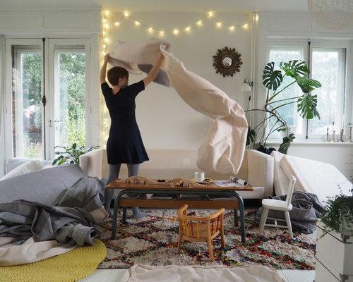 Custom Karlstad 3 Seater Sofa Covers In Kino Natural Fabric