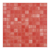 "12.5""x12.5"" Fog Red Slip Resistant Glass Tile"