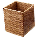 DWBA Bath Collection - DWBA Malacca Square Wastebasket Trash Can For Bathroom, Kitchen, Office, Rattan - DWBA Malacca Square Wastebasket Trash Can for Bathroom, Kitchen, Office - Rattan. Created to bring everlasting beauty; this unique Paper Bin is designed to increase the level of elegance in your home.