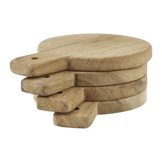 Set of 4 Wooden Serving Boards