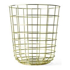 Wire Waste Basket brass waste basket | houzz