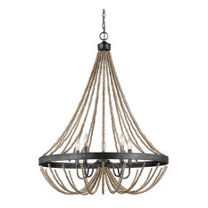 Oglesby 5 Light Chandelier in Washed Pine