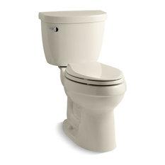 Kohler Cimarron 2-Piece Elongated 1.6 GPF Toilet w/ Left-Hand Lever, Almond