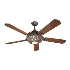 Santa Pepeo Rust Ceiling Fan, Walnut and Cherry With Remote