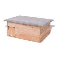 vidaXL Hedgehog House, Wood, 45x33x22 cm