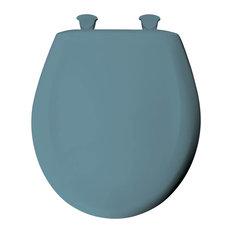 Beautiful Bemis   Bemis 200SLOWT 064 Plastic Round Slow Close Toilet Seat, Regency  Blue