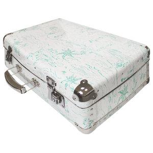 White and Green Catch a Wave Decorative Box, Medium