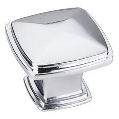 "Jeffrey Alexander - 1-3/16""  Square Milan Cabinet Knob - Polished Chrome"