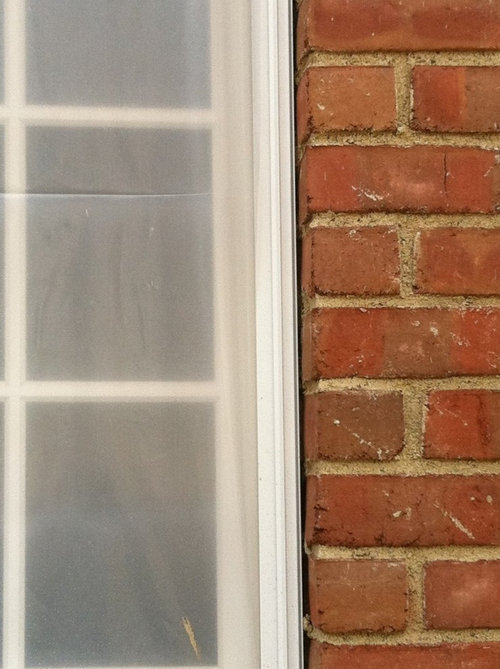 Is caulking an acceptable filler between windows and brick - Wood filler or caulk for exterior trim ...
