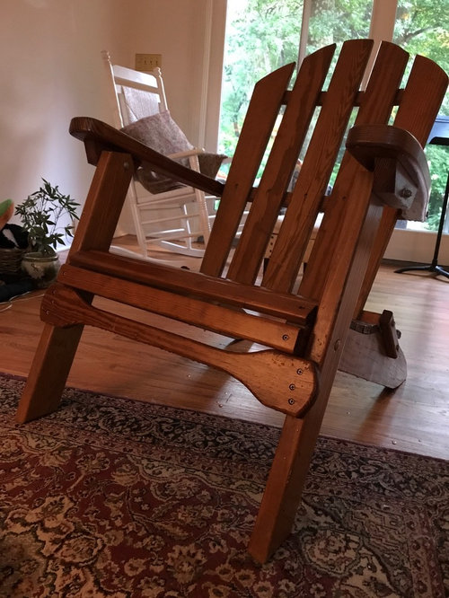 Prime Adirondack Chair Used Indoor In A Cottage Style Home Yay Or Onthecornerstone Fun Painted Chair Ideas Images Onthecornerstoneorg