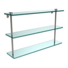 Triple Glass Shelf, Satin Nickel