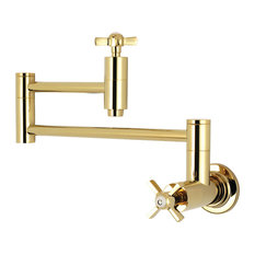 Kingston Brass Millennium Pot Filler Faucet, Polished Brass