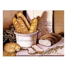 Tile Mural, Bread Study by Theresa Kasun