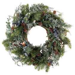 Contemporary Wreaths And Garlands by TreeKeeper, Santa's Bags, Village Lighting Co.