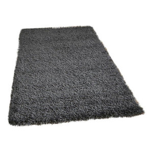 Vista Plain Dark Grey Rectangular Rug, 120x170 cm
