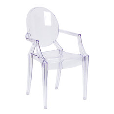 flash furniture ghost chair with arms in transparent crystal outdoor dining chairs