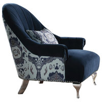 ACME Jaborosa Velvet Accent Chair, Blue