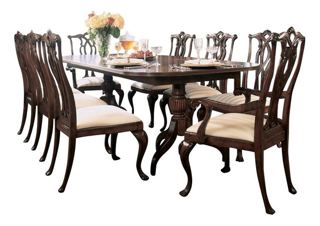 Exceptional American Drew Cherry Grove 10 Piece Dining Room Set In Antique Cherry