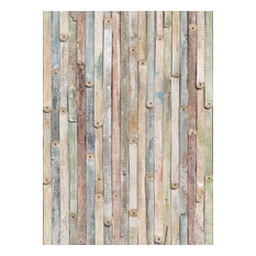 Pastel Wooden Planks Photo Wall Mural, 184x254 cm