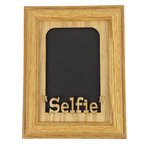 """Northland Frames and Gifts - Selfie Oak Picture Frame and Oak Matte, 5""""x7"""", Vertical - Looking for the perfect gift? This 5x7 Selfie Picture frame holds either a 4x6 photo that you can tape directly onto the wood mat or a cropped 5x7 photo that you can just set inside the frame; no tape necessary. This handmade 5x7 oak wood frame comes with an easel back, Selfie Matte and glass. Perfect gift for any Holiday or special occasion!"""