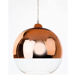 Club Glass Sphere Pendant, Copper