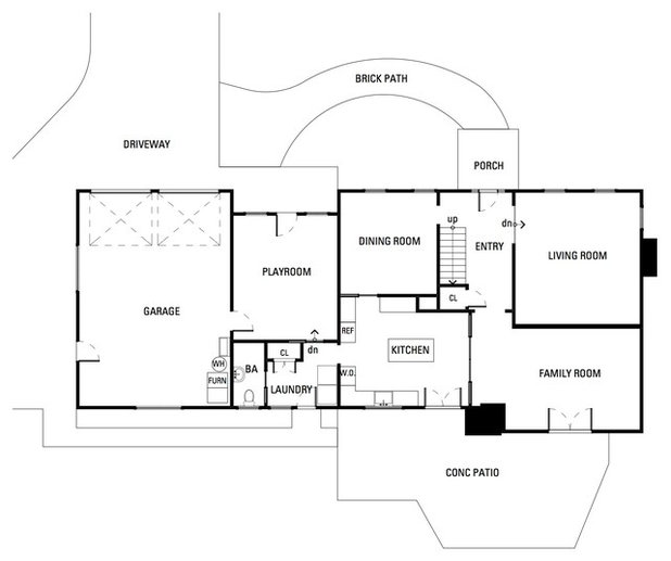 Great Contemporary Floor Plan Houzz Tour Making Modern Work For a Family of Four